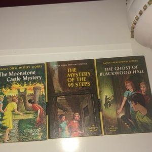 Three Vintage Hardcover Nancy Drew Books From 60's